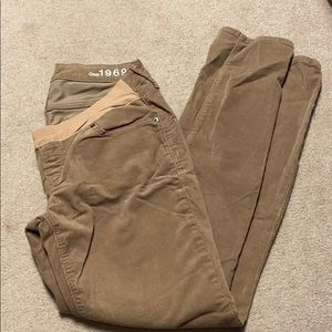 Gap maternity corduroys